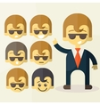 Set of cartoon office worker vector