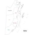 Outline belize map vector