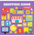 Shopping decorative icons vector