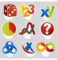 Math related symbols vector