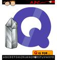Letter q with quartz vector