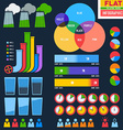 Flat infographic icons with pipes vector