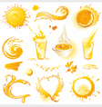 Collection of orange design elements vector