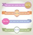 Web elements header vector