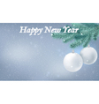 Happy new year snow background vector