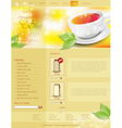 Website template tea shop vector
