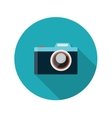 Flat design concept camera with long shadow vector