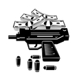 Gun and money vector