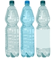 Plastic bottle with water vector