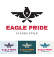 Eagle pride - logo in classic graphic style vector