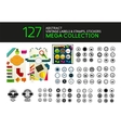 Set of vintage stamps lables tags icons vector