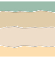 Torn paper abstract in pastel colors vector