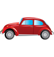 Red retro car isolated on white background vector