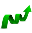 Abstract green arrow up vector