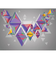 Colorful 3d triangles vector