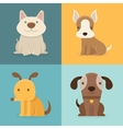 Set of cartoon dogs in flat style vector