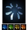 3d sun emblems vector
