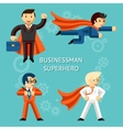 Business superheroes characters vector