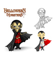 Halloween monsters spooky vampire eps10 file vector
