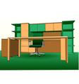 Modern office interior vector