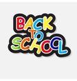 Back to school label concept vector