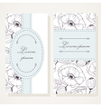 Business card set with poppies vector