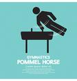 Pommel horse gymnastics vector