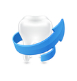 All around protected human teeth on white vector