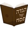 Haggdah book for passover vector