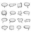Speech bubbles vector
