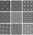 Squares black and white geometric seamless vector
