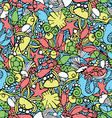 Seamless pattern with an underwater theme vector