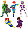 Five superheroes vector
