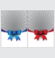 Blue and red ribbon page design template vector