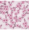 Seamless cherry blossom wallpaper vector