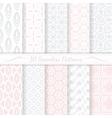 Set of ten seamless modern patterns vector