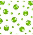 Crystal green balls vector