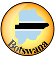 Button botswana vector