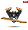 Aircraft engine with propeller vector