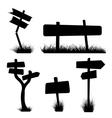 Silhouette field post vector
