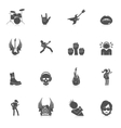Rock music icons vector