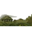 A military tank vector