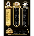 Coffee menu templates vector