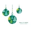 Holiday christmas trees christmas ornaments vector