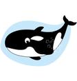 Happy killer whale vector