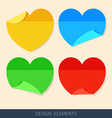 Colored stickers paper for notes in a flat style vector
