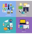 Business steps concept flat vector