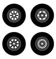 F1 wheel symbols vector