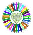 Hand style save the earth tree idea vector