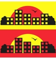 Contrast city silhouette vector